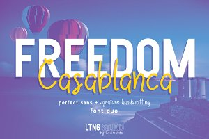 FREEDOM Casablanca font duo