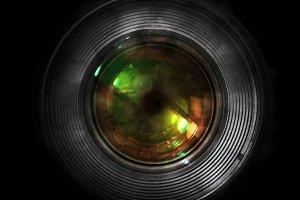 DSLR camera lens - front view