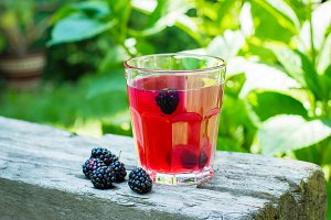 Blackberry juice or lemonade