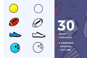 30 Sports Icon Pack