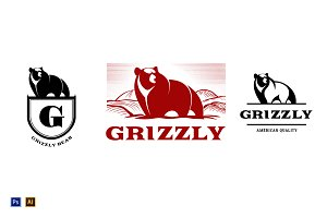 Grizzly Bear Vintage Logo