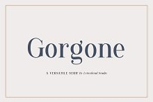 Gorgone - A Versatile Serif by  in Display Fonts