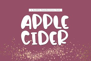 Apple Cider - A Handwritten Font