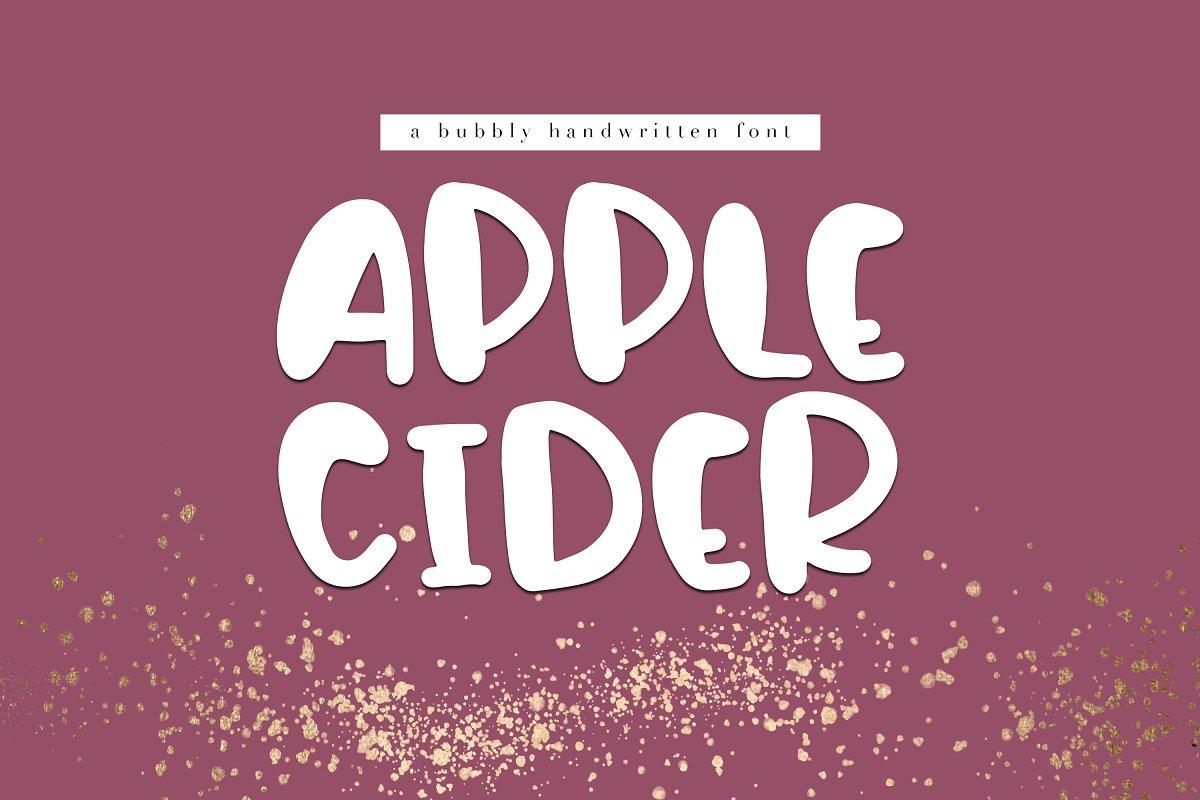 Apple Cider - A Handwritten Font ~ Display Fonts ~ Creative