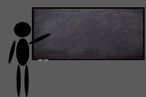 The blackboard in a class