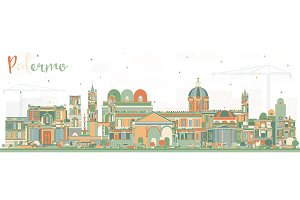 Palermo Italy City Skyline