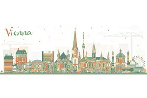 Vienna Austria City Skyline
