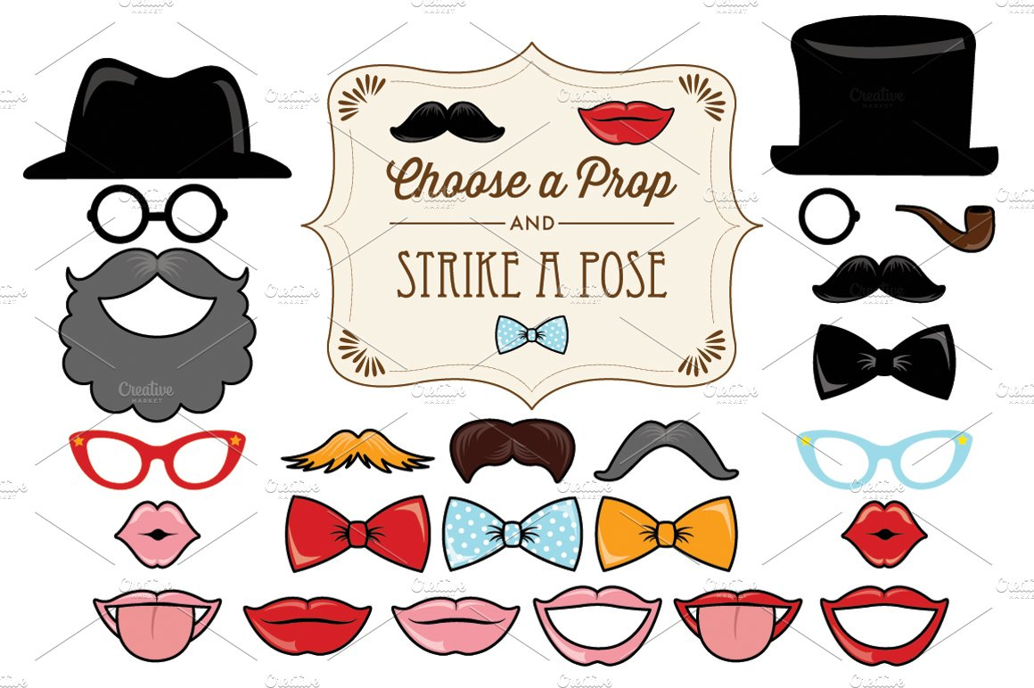 25 printable classic photo props illustrations creative market