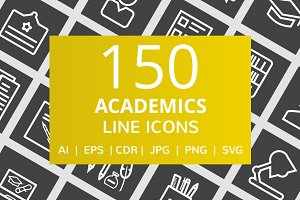 150 Academics Line Inverted Icons