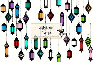 Morocan Lamps Clipart