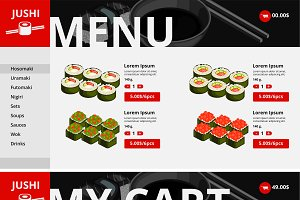 Asian Food Website Page Template