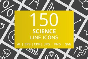 150 Science Line Inverted Icons
