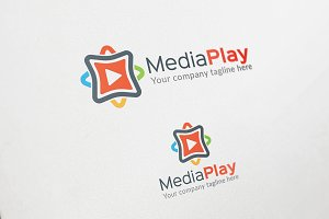 Media Play Logo Template