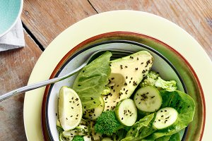Healthy vegetarian green  salad