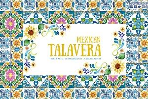 Talavera mexican fiesta clipart