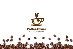 Coffee Power Logo Template