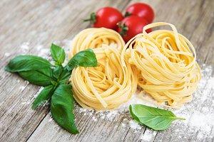 Italian pasta Tagliatelle