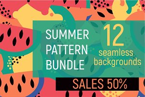 SALES 50%. SUMMER PATTERN BUNDLE.