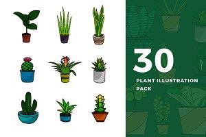 30 Plant Illustration Pack