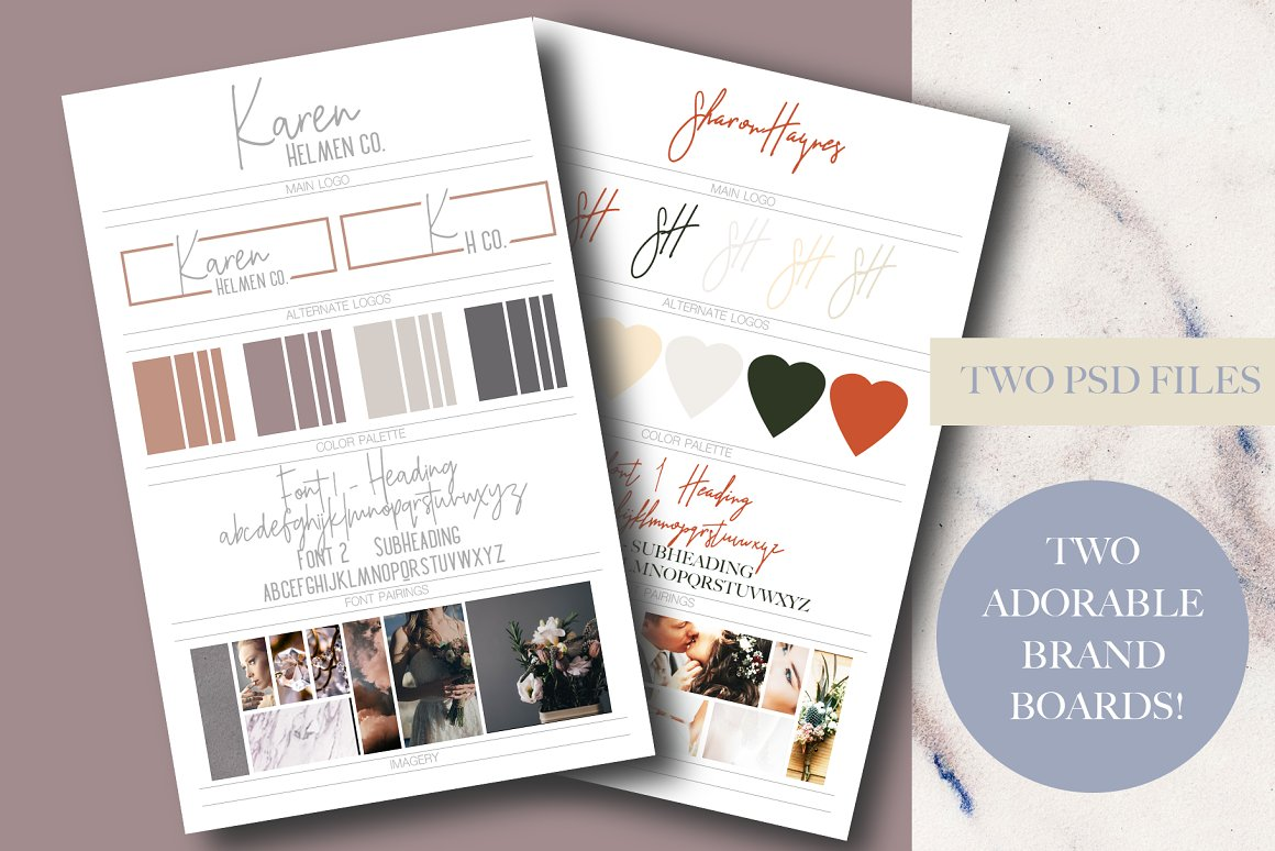 Two Brand Boards - Pinterest Size!