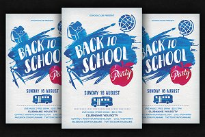 Back to School Water Color Flyer