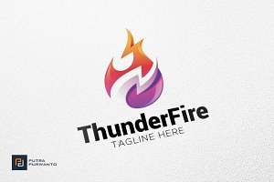 Thunder Fire - Logo Template