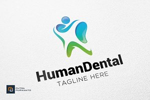 Human Dental - Logo Template