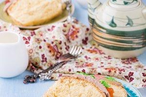 Slices of sponge cake