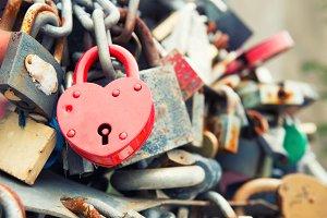 Love red romance lock