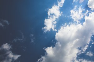 Blue Sky White Clouds #2