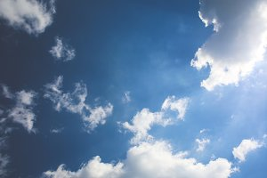 Blue Sky White Clouds #1