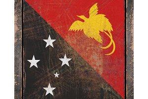 Old Papua New Guinea flag