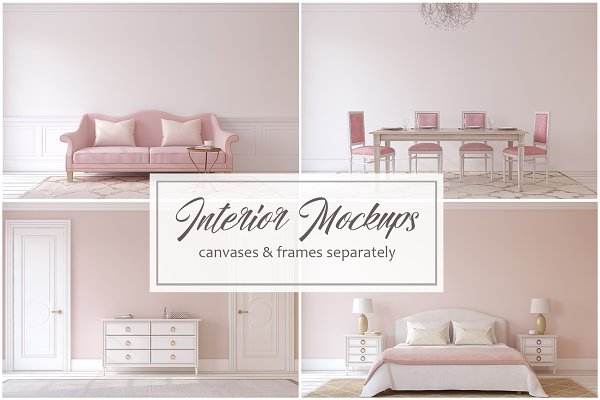 Pink Interior Mock-ups