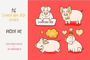 Pig, Chinese New Year symbol of 2019