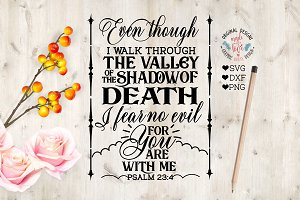 Psalm 23:4 Cut File in SVG, DXF, PNG