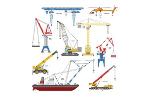Crane vector tower-crane and