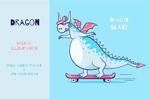 Dragon riding skate