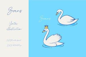 Swan vector design
