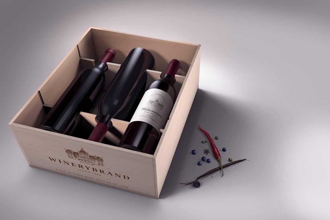 Wine Case Mock Up Product Mockups Creative Market