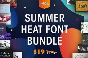 The Summer Heat Font Bundle