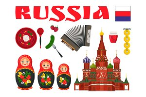 Russian Culture Vector Illustration