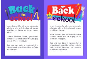 Back to School Poster with Place for