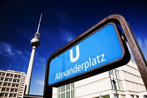 U-bahn Alexanderplatz sign, Berlin