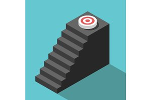 Isometric steps to target