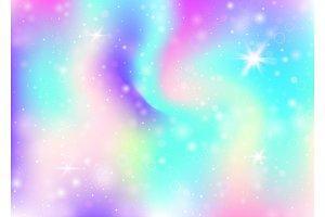 Unicorn background with rainbow