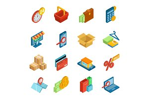 Online shopping icon vector e