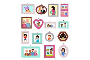 Frame vector framing picture or
