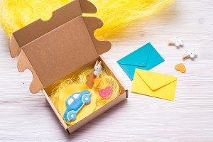 Cardboard carton gift box for kids