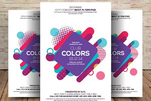 Colorful Club/ Party Flyers Template