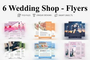 6 Wedding Shop - Flyers